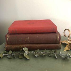 Vintage book set, fall tones!